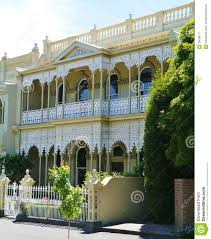 100 Melbourne Victorian Houses Cast Iron House In Style Stock Image Image Of