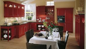 landhaus einbauküche spinell karminrot küchen quelle