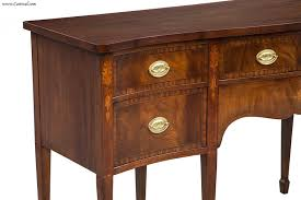 20th Century American Made High End Hepplewhite Mahogany Federal Dining Room Sideboard Buffet For Sale