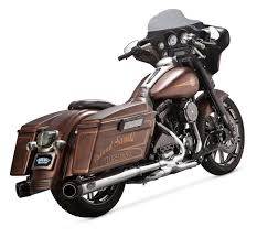 Vance And Hines Dresser Duals Black by Roland Sands Slant Mufflers For Harley Touring 1995 2016 Revzilla
