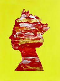 100 Pop Art Home Decor QUEEN 19 MODERN OFFICE HOME DECOR QUEEN ELIZABETH PORTRAIT ON YELLOW BACKGROUND PRESENT IDEA POP ART URBAN