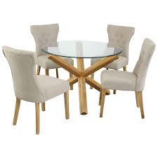 Alluring Round Oak Kitchen Table And Chairs Dining Set ... Table Glass Likable Solid Chairs Legs Base Round Avenue Oak Top Natural Lacquer Ausgezeichnet Small Wood Ding Tables Spaces Argos Extra Large Chestnut Finish Jacobian 42 Open Up To 60 Wood Top And Four Chairs 6484 Room With Hidden Leaves Missouri Pedestal 6 Set And Napolean 4 White
