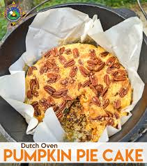 Pumpkin Pie Cake Camping Recipe in the Dutch Oven