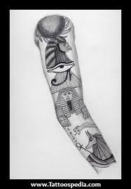 Egyptian Gods Tattoo Sleeve