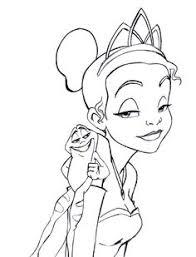 Princess Tiana And The Prince Frog Coloring For Kids