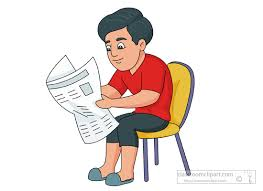 Man Reading News Paper Sitting On Chair Clipart 945 Size 64 Kb From