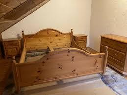 schlafzimmer komplett bett nachtkästchen kommode kiefer