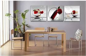 Wall Paintings For Dining Room Awesome Free Shipper 3 Piece Art