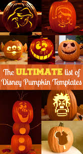 Alien Pumpkin Designs by Disney Pumpkin Carving Templates