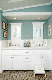 Tranquil Colors Inspired By The Sea - 11 Bathroom Designs | Master ... Beach Cottage Bathroom Ideas Homswet Bathroom Mirror Ideas Rope With House Mirrors Ninjfuriclub Oval Mirror Above Whbasin In Cupboard Unit Images Vanity Small Designs Decor Remodel Beachy Best On Wall Theme Woland Music Fniture Enjoy The Elegant Fantastic Home Art Extraordinary Style Charming Country Bath Tastic
