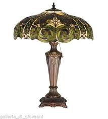 Tiffany Style Lamps Vintage by Austrian Tiffany Style Lamp German European Green Light Antique
