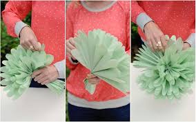 Group Tissue Paper Flowers Together In An Arrangement And Add Leaves For Instant Bloom Of Happiness