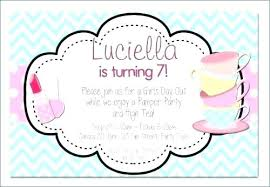 Free Ntable Spa Party Invitation Template Birthday Invitations At Home Templates Pamper