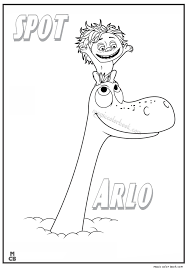 Good Dinosaur Coloring Pages Free Printable Spot Arlo