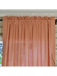 Pottery Barn Curtains Sheers by Qyk246see Eos Linen Red Pink Solid Rod Pocket Sheer Curtains