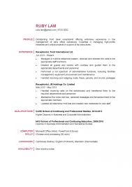 Sample Resume For Receptionist 15806 1 Rare In Medical Office Law Firm 1920