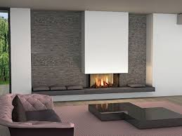 Living Room With Fireplace In The Middle by Modern Rectangular Fireplace In The Middle Of The Wall Livinator