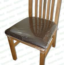 Shining Chair Protectors Strong Dining Clear Plastic Cushion Seat Covers