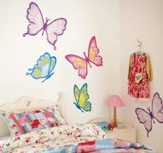Little girls bedroom decorating ideas – wall stickers