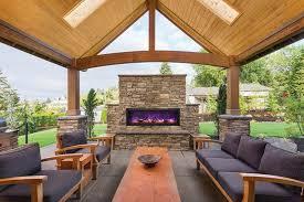 Amantii Panorama BI 50 DEEP OD Built in Outdoor Electric Fireplace