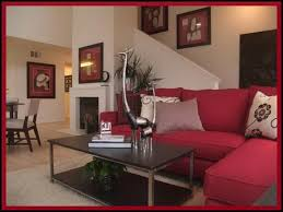Red And Black Themed Living Room Ideas by Red Sectional Sofa Decor Centerfieldbar Com