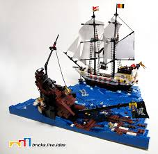 lego pirate ship minifig scale argh we be sunk lego ship