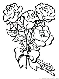 Coloring Pages Hearts With Wings And Roses S Bouquet Of Page Free Flowers