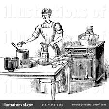 Royalty Free RF Baking Clipart Illustration by Prawny Vintage