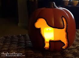 Carvable Foam Pumpkins Ideas by Diy Dog Silhouette Carvable Pumpkins