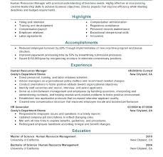 Sample Hr Director Resume
