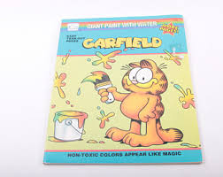 Garfield Giant Paint With Water Coloring Book Cartoon Vintage The