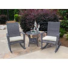 Havenside Home Maimi 3-piece Outdoor Rocking Chair Set