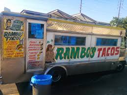 Order Of The Taco: Rambo's Taco Truck, Eagle Rock, CA Amazoncom Bigmouth Inc Taco Truck Lunch Tote Insulated Keeps The Trucktomortar Restaurant Jersey Bites Popular Homewood Taco Truck Owners Open A New Mexican Food Wagon In City Food Trucks Roaming Hunger Eating At The On Whole Foods Roof Flying Dinosaurs Trucks Every Corner Wikipedia Hacienda Unleashes Its Rebel Little Brother Market Denver Spit A Blog La Chapina Doll Braves And Ford Frys Oldtimey Opening Thursday Marias Tacos Bumblebee Mans Ding Universal Studios Hollywood