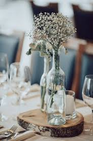 Winter Wedding Centerpieces Rustic Baby Breath