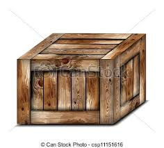 Fragile Wooden Box Vector Illustration