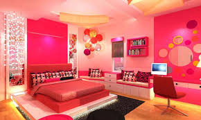 Pretty Pink Girl Bedroom Design With Wall Decals Also Pink