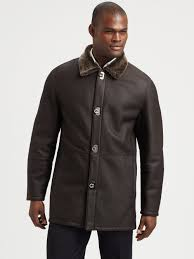 Ferragamo Shearling Trimmed Leather Coat In Brown For Men | Lyst Womens Brown Shearling Sheepskin Duffle Coat Daria Uk Lj Coach Jacket In Green For Men Lyst Taylor Stitch Blanket Lined Barn Jacket Huckberry Consume Urban Outfitters Uo Faux Barn And Wool Shop Jackets Peter Millar Cortina Leather Fur Fashion 2017 Weatherproof Fauxshearling For Women Save 50 237 Best Sheepskins I Love Images On Pinterest Bogoli Lamb Amazoncom Mountain Khakis Mens Ranch Sports