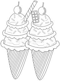 Download Ice Cream Coloring Page Stock Illustration Image Of Candies