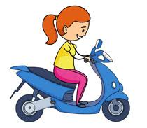 Scooter Clipart Motorcycle 2
