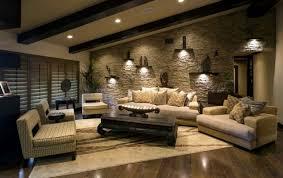 attraktive wandgestaltung im wohnzimmer wand in steinoptik