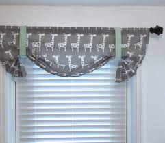 Mint Curtains For Nursery by Giraffe Tie Up Valance Storm Grey Mint Green By Supplierofdreams