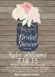 Bridal Shower Invitations Mason Jar Theme 6 And The