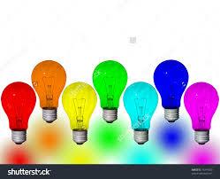 colored light bulbs home design