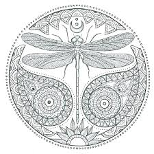 Dragonfly Coloring Page Cute Pages To Print Mandala Book Henna Butterflies Simple Pictures