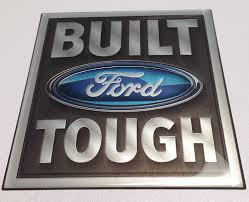 100 Ford Truck Logo Amazoncom Built Tough Emblem Domed ToughSkinz Automotive