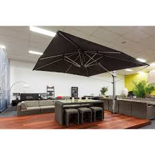 Large Cantilever Patio Umbrella by 10 Ft Square Eclipse Acrylic Cantilever Umbrella By Frankford