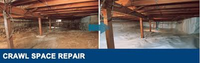 crawl space structural support jacks installed in md crawl space