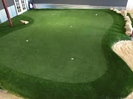 Indoor Putting Green landscape traditional with backyard sport court