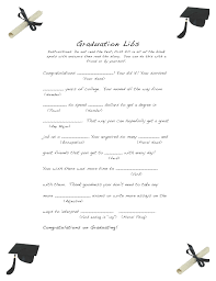 Halloween Mad Libs Free by Free And Easy Graduation Libs U2013 Easy Event Ideas
