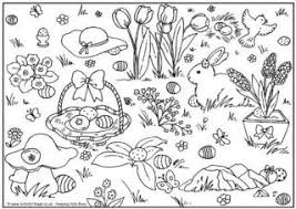 Easter Egg Hunt Coloring Page 2 Colouring Pages